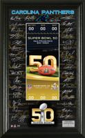 **Carolina Panthers 2016 NFC Champions Super Bowl 50 Team Signature Ticket LE 5000