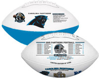 **Carolina Panthers 2015 NFC Champions Super Bowl 50 Wilson Leather Football LE 5000