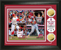"""Los Angeles Angels Mike Trout """"Back to Back MLB All-Star Game MVP"""" Gold Coin Photo Mint LE 5000"""