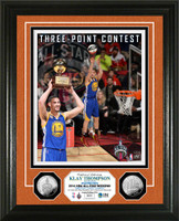 Klay Thompson Golden State Warriors 2016 Three-Point Contest Champion Silver Coin Photo Mint LE 2,016