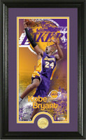 Kobe Bryant Los Angeles Lakers Supreme Bronze Coin Panoramic Photo Mint