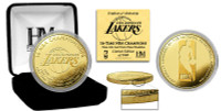 Los Angeles Lakers 16 Time NBA Finals Champions 24k Gold Coin w/Case LE 5000