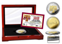 Cleveland Cavalier 2016 NBA Champions 2-Tone Gold and Silver Coin LE