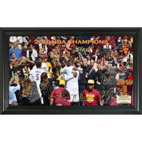 Cleveland Cavalier 2016 NBA Champions Signature Court Framed LE