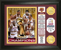 """Cleveland Cavaliers 2016 NBA Champions """"Banner"""" 2pc Coin Photomint"""