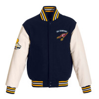 Cleveland Cavaliers 2016 NBA Finals Champions Leather and Wool Full-Zip Jacket - Navy