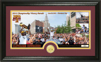"""Cleveland Cavaliers 2016 NBA Champions """"Parade"""" Bronze Coin Pano Photo Mint LE"""