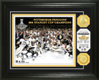 Pittsburgh Penguins 2016 Stanley Cup Champions Bronze Coin Photo Mint