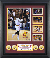 Cleveland Cavaliers LeBron James The King 4pc 24kt Gold Coin Grand Highlight Mega Photo Mint Framed LE 123