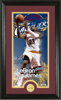 "LeBron James ""Supreme"" Bronze Coin Panoramic Photo Mint Framed LE"
