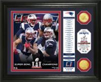 New England Patriots 2016 Super Bowl LI Champions 2pc Bronze Coin Photo Mint w/Season's Scores LE 5000