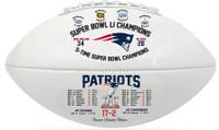 New England Patriots 5 Time Champions Commemorative Football LE 5000