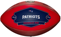 New England Patriots NFL Personalized Wilson Leather Football
