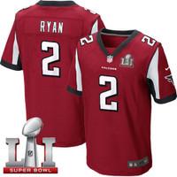 Atlanta Falcons Matt Ryan Nike Red Super Bowl LI Bound Game Jersey