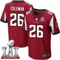 Atlanta Falcons Tevin Coleman Nike Red Super Bowl LI Bound Game Jersey