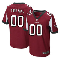Atlanta Falcons Home Jersey Red Personalized w/Name and Number