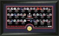 New England Patriots 2016 Super Bowl LI Champions Bronze Pano Coin Photo Mint w/Season Scores Framed LE 10,000