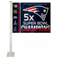 New England Patriots 5X 2016 Super Bowl LI Champions Car Flag