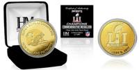 New England Patriots Super Bowl LI Championship 24k Gold Coin w/Case LE 5,000