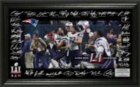 New England Patriots Super Bowl LI Championship Signature Grid LE 5,000