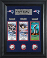 New England Patriots Road to Super Bowl LI Deluxe 3pc Silver Coin and 3pc Ticket Collection LE 1,000