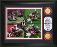 """New England Patriots Julian Edelman Super Bowl 51 """"Catch"""" 2pc Bronze Coin Photo Mint LE 2,017"""