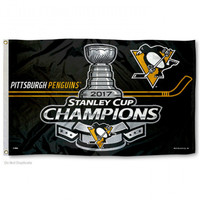 Pittsburgh Penguins 5 Time NHL Stanley Cup Champions 3' x 5' Team Flag