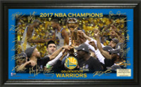 Golden State Warriors 2017 NBA Finals Champions Celebration Signature Court Framed LE 5,000