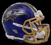 Baltimore Ravens NFL Blaze Revolution Speed Riddell Mini Football Helmet