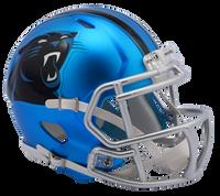 Carolina Panthers NFL Blaze Revolution Speed Riddell Mini Football Helmet