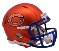 Chicago Bears NFL Blaze Revolution Speed Riddell Mini Football Helmet