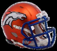 Denver Broncos NFL Blaze Revolution Speed Riddell Mini Football Helmet