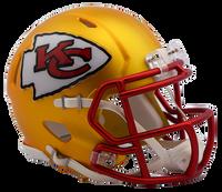 Kansas City Chiefs NFL Blaze Revolution Speed Riddell Mini Football Helmet