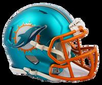 Miami Dolphins NFL Blaze Revolution Speed Riddell Mini Football Helmet