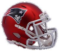 New England Patriots NFL Blaze Revolution Speed Riddell Mini Football Helmet