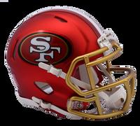 San Francisco 49ers NFL Blaze Revolution Speed Riddell Mini Football Helmet