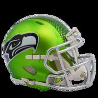 Seattle Seahawks NFL Blaze Revolution Speed Riddell Mini Football Helmet