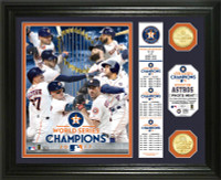"""Houston Astros 2017 World Series Champions """"Banner"""" Bronze Coin Photo Mint LE 5000"""