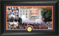 """Houston Astros 2017 World Series Champions """"11-3-2017 Parade"""" Panoramic Bronze Coin Photo Mint Framed LE 5000"""