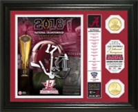 Alabama Crimson Tide 2017 Football National Championship 2pc 24k Gold Banner Photo Mint LE 5,000