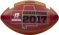 Alabama Crimson Tide 2017 CFP National Championship Wilson Leather Football - Red