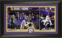 """Minnesota Vikings Stefon Diggs """"Miracle in Minnesota"""" Silver Coin Victory Photo Mint LE 5000"""