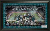 Philadelphia Eagles Super Bowl LII Champions Signature Grid Framed LE 5,000
