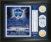 "Villanova Wildcats 2018 NCAA National Champions 2pc 24k Gold Banner Photo Mint 13"" x 16"" LE 5,000"
