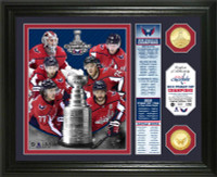Washington Capitals 2018 NHL Stanley Cup Champions 2pc Gold Coin Banner Photo Mint LE 5,000