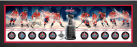 "Washington Capitals Authentic 2018 NHL Stanley Cup Champions Framed Autographed 52"" x 18"" 10-Puck Shadowbox - Limited Edition of 218"