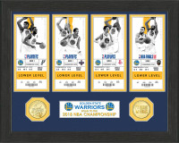 Golden State Warriors 2018 NBA Finals Champions 4pc Ticket Collection LE 5,000