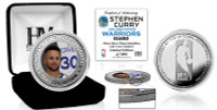 Stephen Curry Golden State Warriors Silver Plated Color Coin LE 5,000