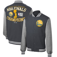 Golden State Warriors 2018 NBA Finals Champions Front Court Full-Snap Varsity Jacket