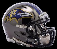 Baltimore Ravens NFL Chrome Speed Riddell Mini Football Helmet